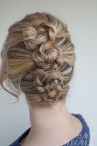 Blonde updo for wedding