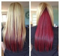 Long two-toned hairstyle