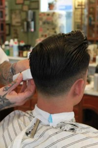 Short haircut for men with shaved sides