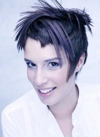 Short, black haircut with regular cut