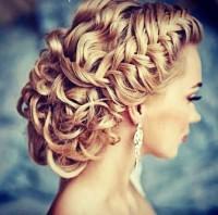 Amazing, basket braids updo for wedding