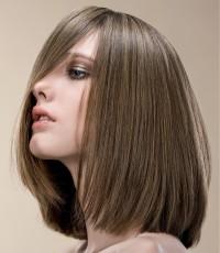 Medium-length, straight, brown hair